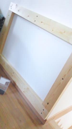 角材で四角い枠を作る